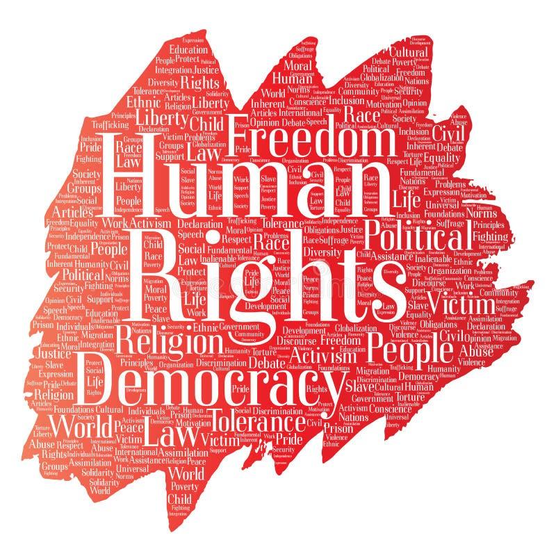 Libertad política de los derechos humanos del vector libre illustration