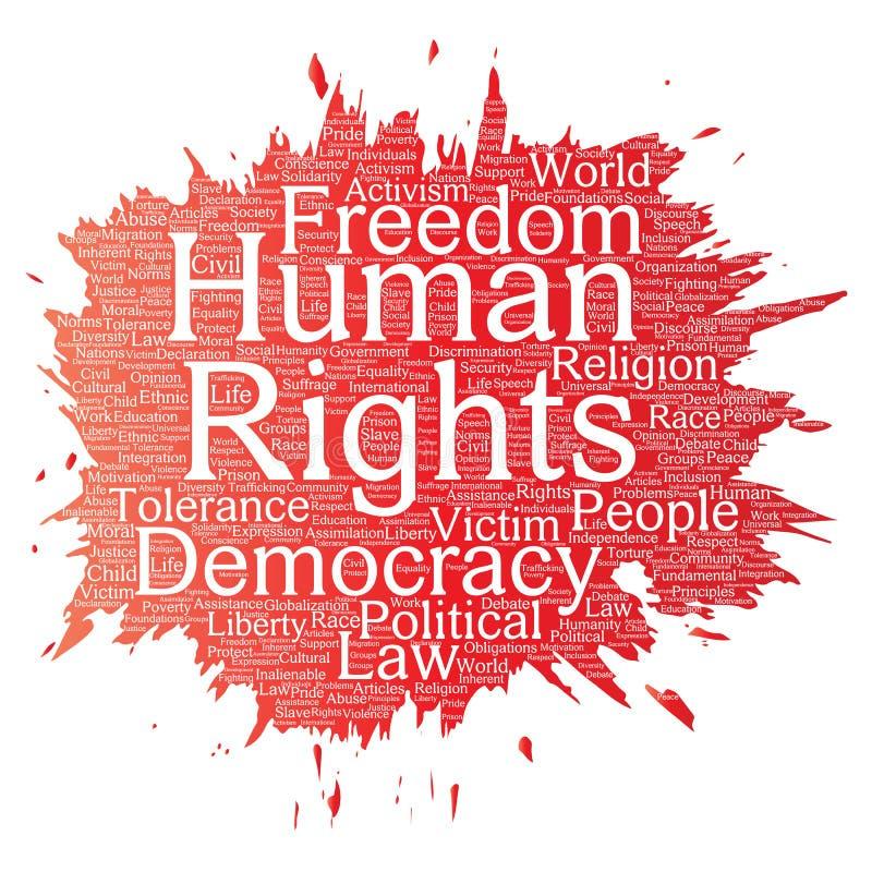 Libertad política de los derechos humanos del vector ilustración del vector