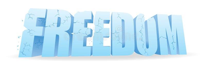 Libertad que desmenuza ilustración del vector