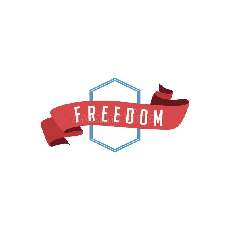 libertad retra de la etiqueta de la insignia del vintage ilustración del vector