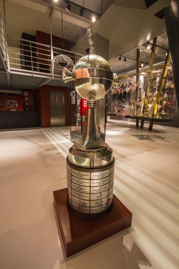 Libertadorestrofee - het Museum van S C Internacional royalty-vrije stock fotografie