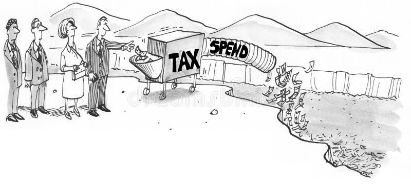 Libertarian Overheidsmening vector illustratie