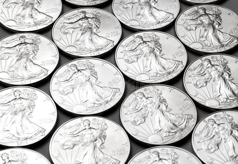 Liberty夫人银币 免版税库存图片