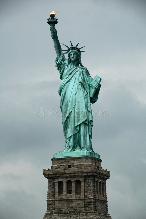 Liberty. This is the Statue of Liberty, a representation of peace and freedom royalty free stock photos
