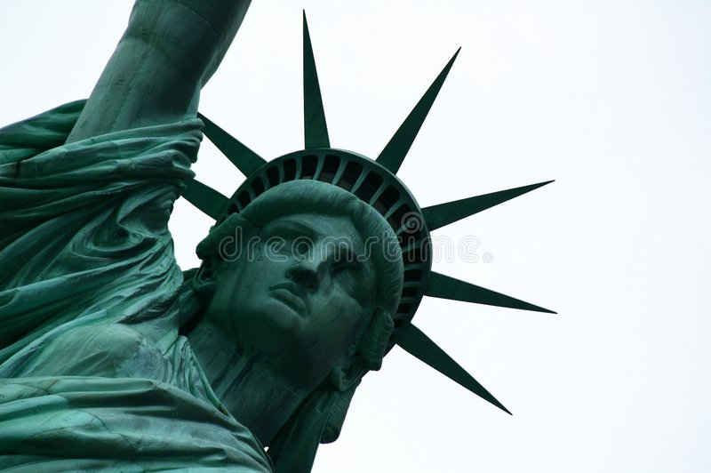 Liberty. This is the Statue of Liberty, a representation of peace and freedom royalty free stock photo