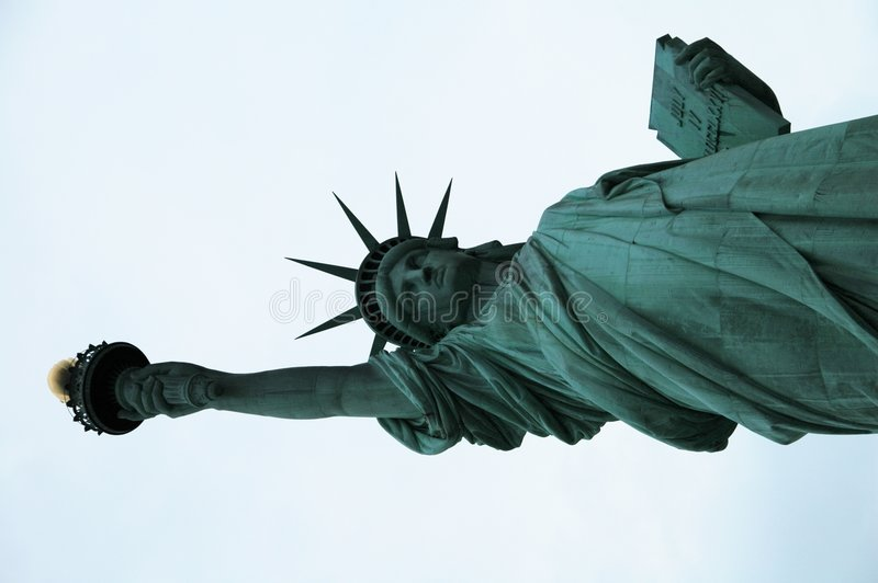 Liberty. This is the Statue of Liberty, a representation of peace and freedom royalty free stock photography