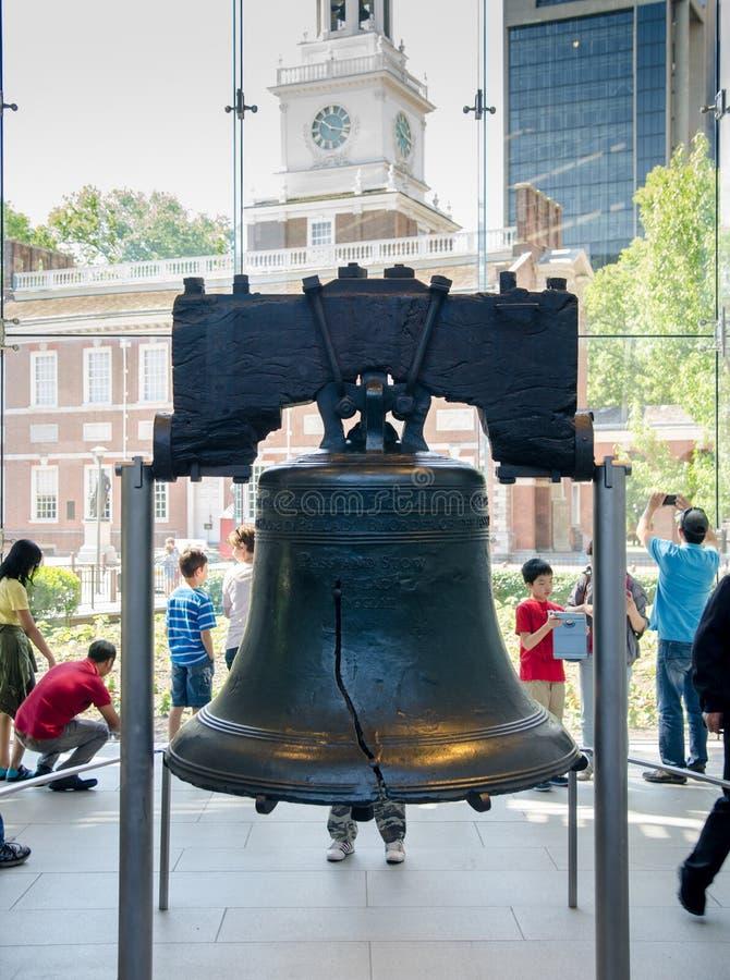 Liberty Bell es símbolo de la independencia americana philadelphia imagen de archivo