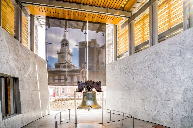 Liberty Bell 267 jaar oud in Philadelphia Pennsylvania de V.S. royalty-vrije stock afbeelding