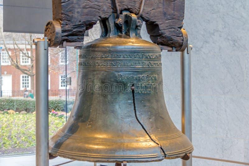 Liberty Bell - Philadelphia, Pennsylvania, de V.S. royalty-vrije stock afbeelding