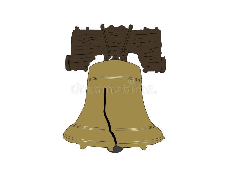 Liberty Bell Vetora Illustration ilustração royalty free