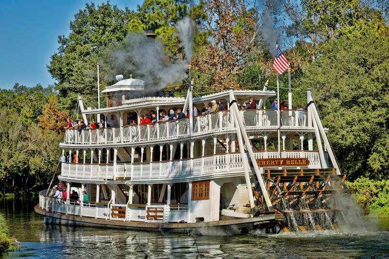 Liberty Belle Paddle Steamer, Liberty Square Riverboat, Magic Kingdom. Disney World, Orlando, Florida, USA royalty free stock photo