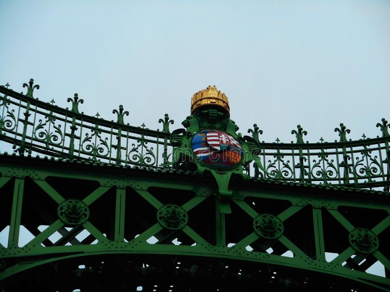 Liberty Bridge über der Donau in Budapest, Hugary stockfoto