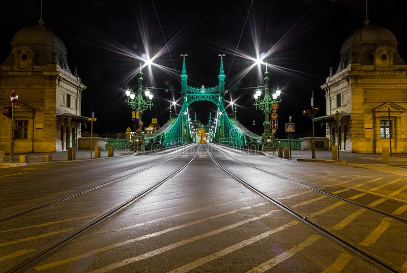 Liberty Bridge - Budapest lizenzfreies stockfoto