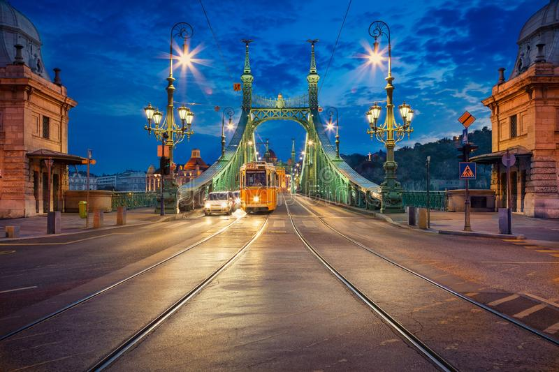 Liberty Bridge, Budapest. royalty free stock image
