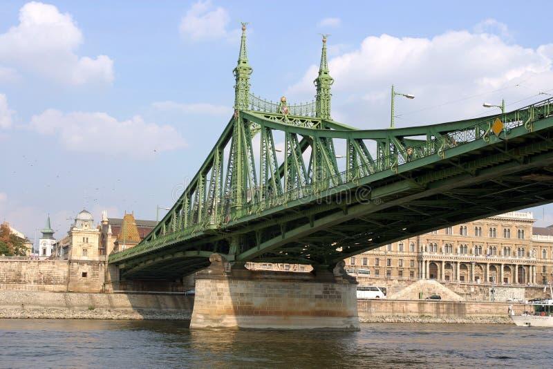Liberty Bridge Budapest Hungary royalty-vrije stock afbeeldingen