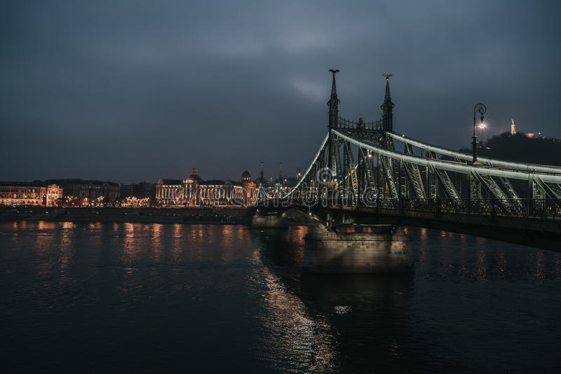 Liberty Bridge Budapest stock image