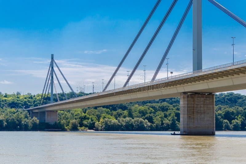 Liberty Bridge en Novi Sad, Serbia fotos de archivo libres de regalías