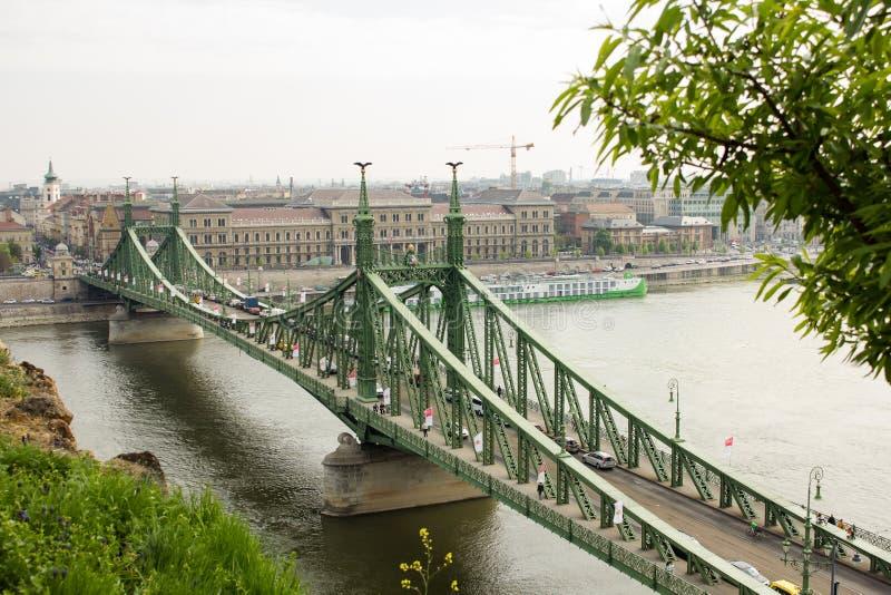 Liberty Bridge ou ponte da liberdade fotografia de stock