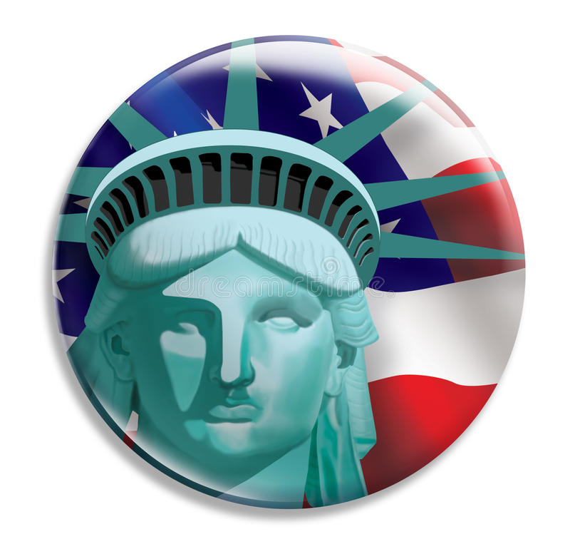 Liberty Button stock illustration