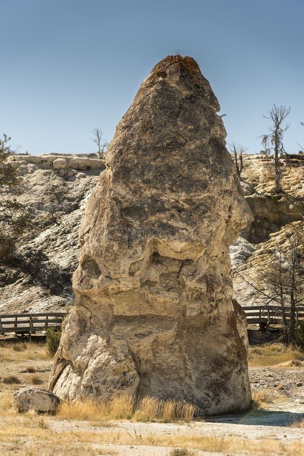 Liberty Cap in de Mammoet Hete lentes Yellowstone stock afbeeldingen