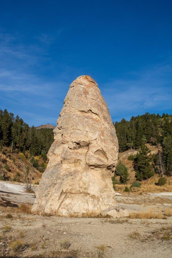 Liberty Cap In Yellowstone National-Park royalty-vrije stock foto