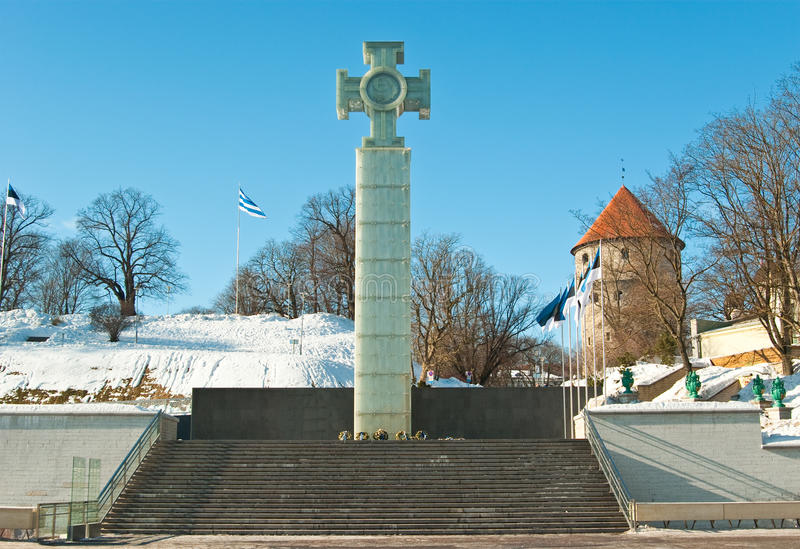 Download Liberty cross stock photo. Image of baltic, column, statue - 18871994