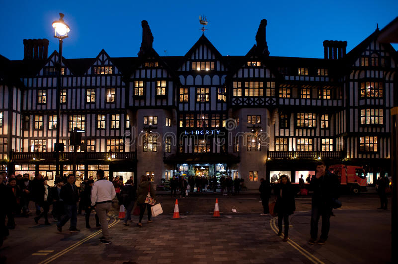 Liberty department store in London stock photography