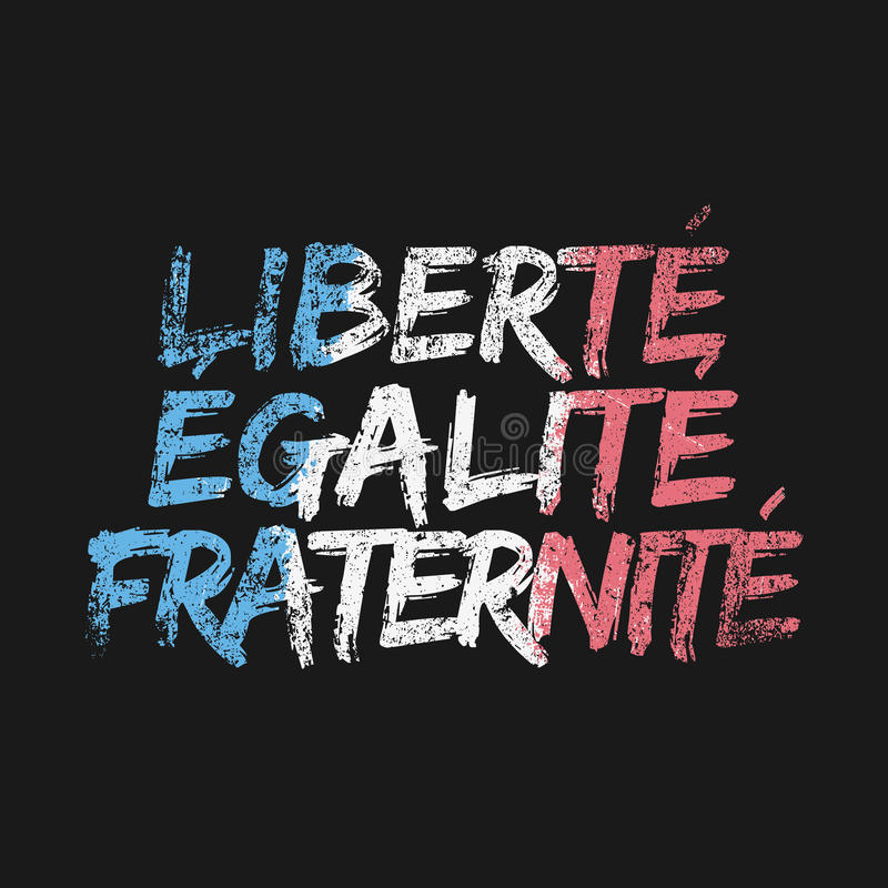 Liberty Equality Fraternity vektor illustrationer