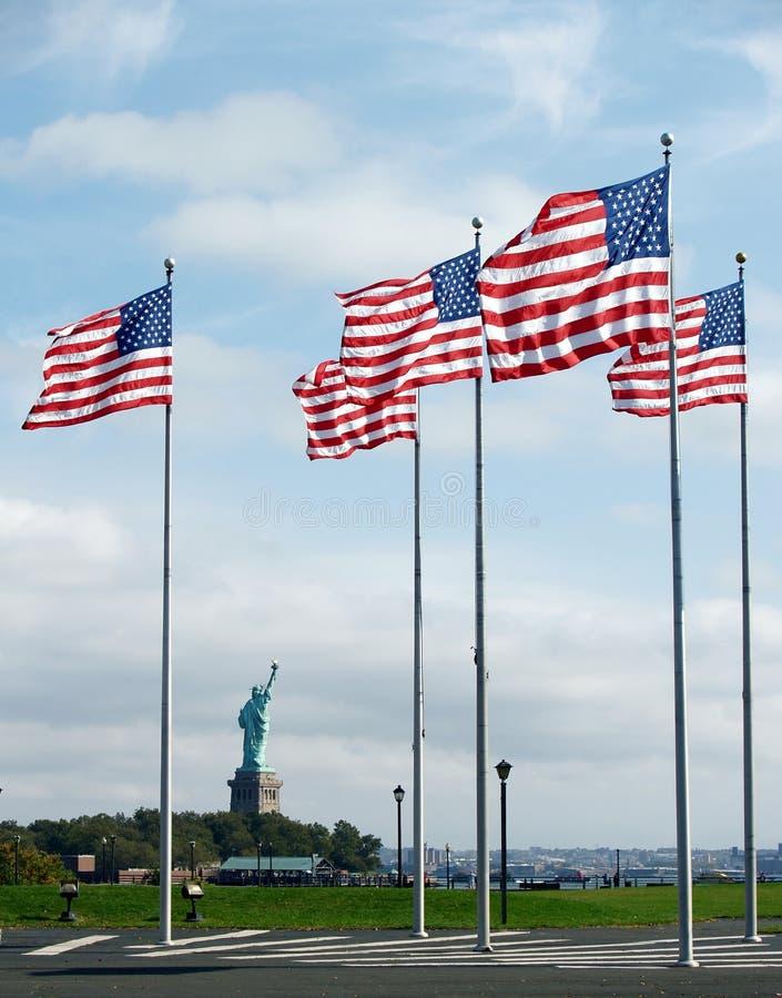 Liberty Flags stock image