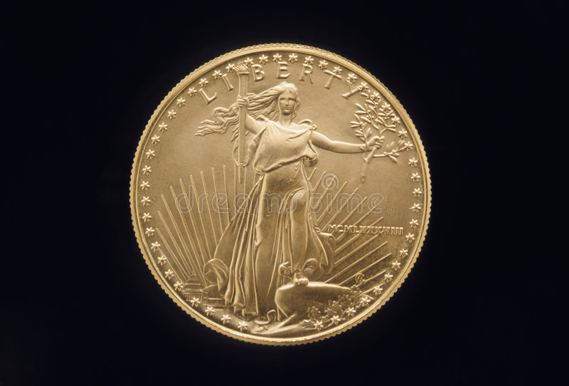 Download Liberty Gold Coin stock photo. Image of invest, detail - 3934892