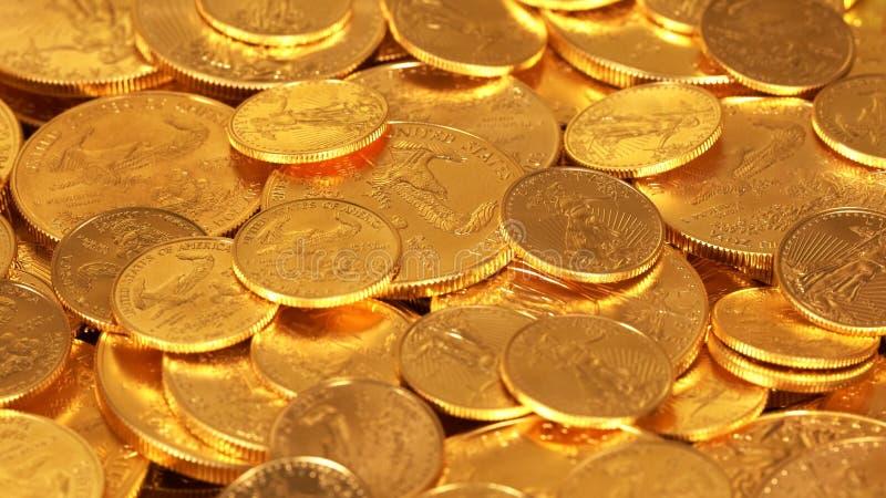 Liberty Gold Eagle ett uns mynt arkivfoto