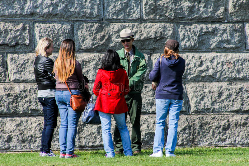 Liberty Island Park Ranger stock photos