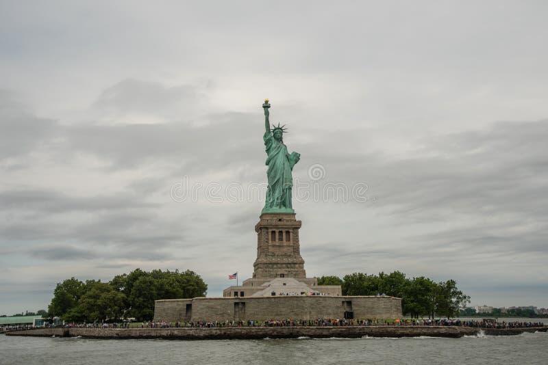 Liberty Island and Statue of Liberty. New York City stock image