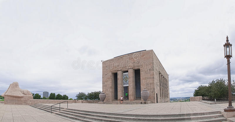 Liberty Memorial panorama stock photo