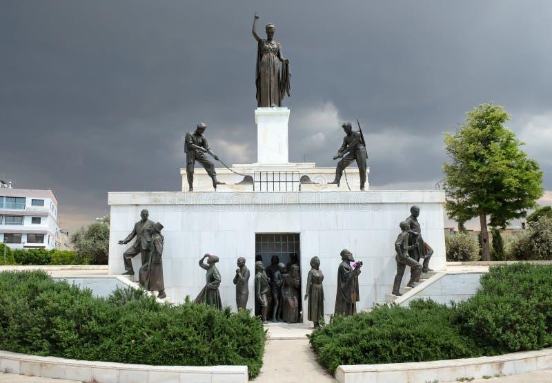 Liberty Monument em Nicosia fotos de stock