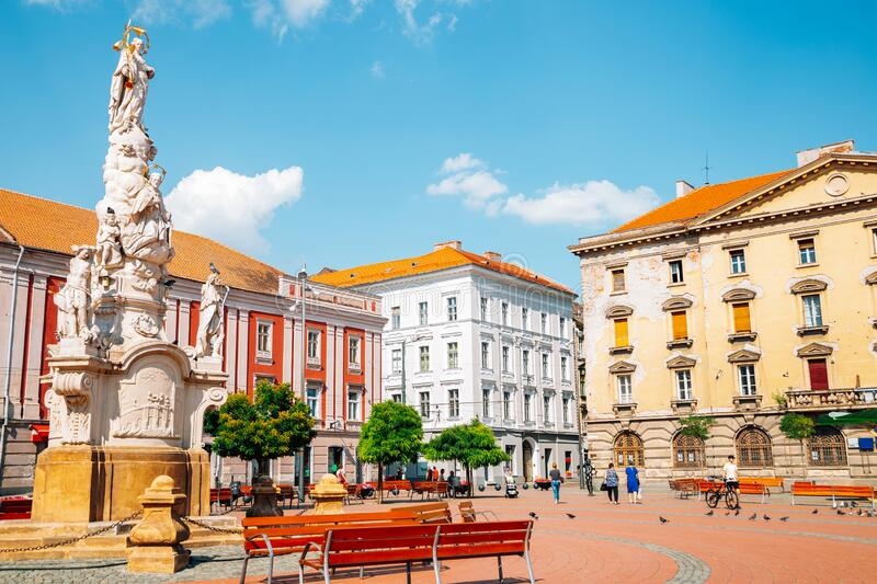 Liberty`s Square in Timisoara, Romania. Europe stock images