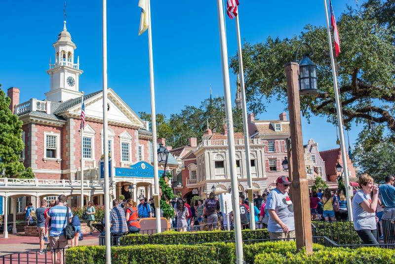 Liberty Square bij het Magische Koninkrijk, Walt Disney World royalty-vrije stock afbeeldingen