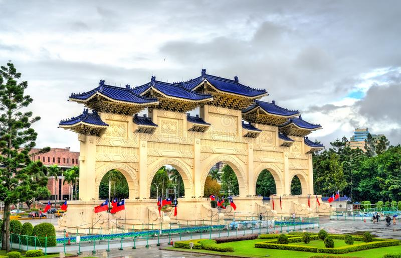 Liberty Square-hoofdingang in Taipeh, Taiwan stock afbeelding