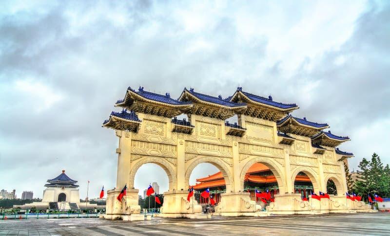 Liberty Square main gate in Taipei, Taiwan stock photo