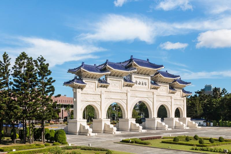 Liberty Square main gate in Taipei, Taiwan stock images