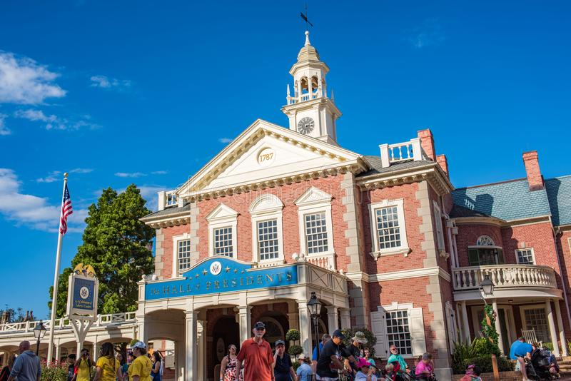 Liberty Square no reino mágico fotografia de stock royalty free