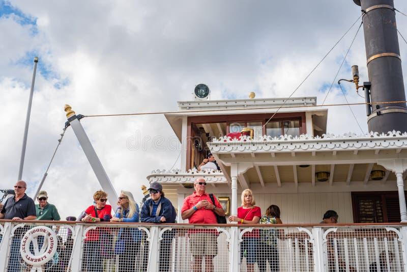 Liberty Square Riverboat al regno magico, Walt Disney World immagine stock