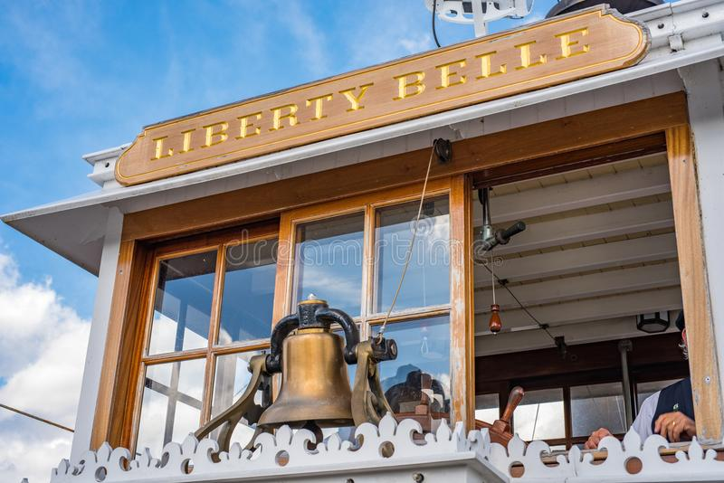 Liberty Square Riverboat, Liberty Belle bij het Magische Koninkrijk stock afbeelding