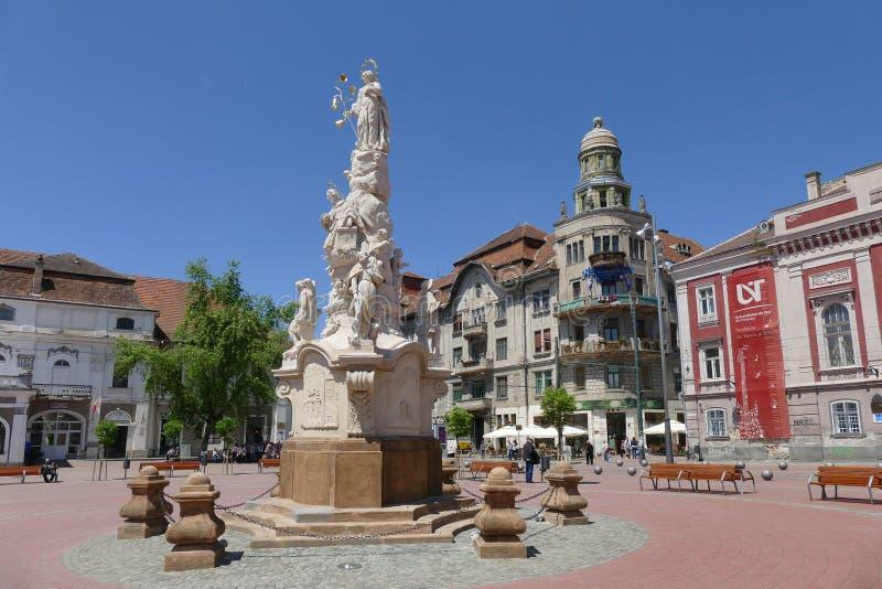 Liberty Square Timisoara Rumänien royaltyfri fotografi