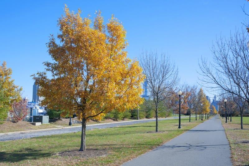Liberty State Park New Jersey-Stadt lizenzfreies stockbild