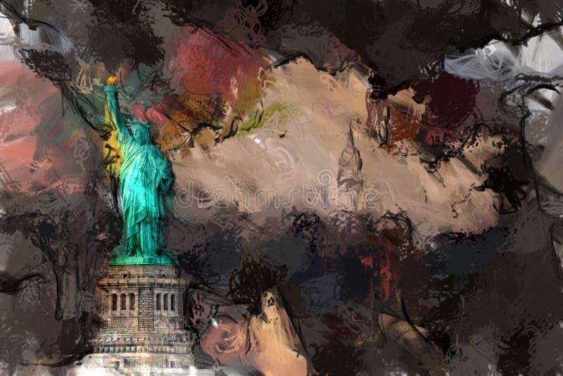 Liberty Statue illustrazione vettoriale