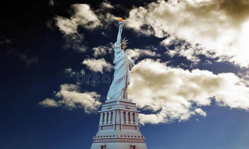 Download Liberty statue stock illustration. Image of democracy - 32466070