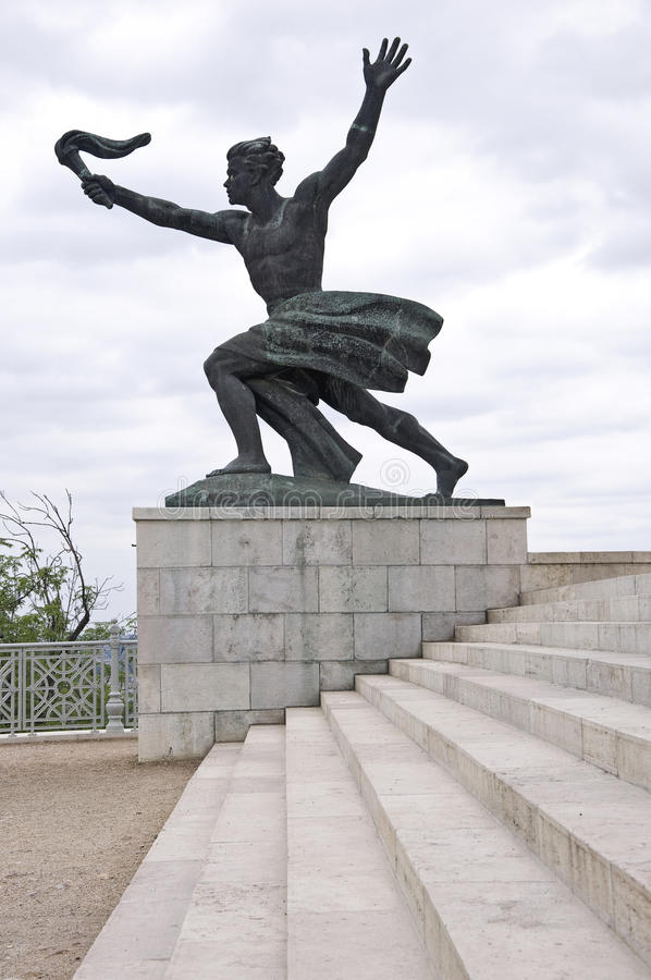 Liberty Statue, Budapest. Liberty Statue on Gellert hill in Budapest royalty free stock photography