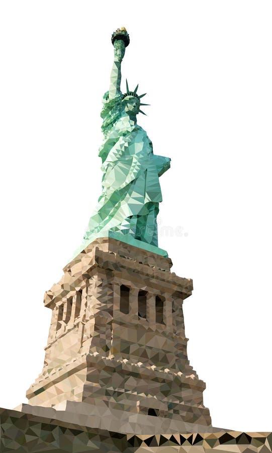 Liberty Statue Polygon Vector illustrazione vettoriale