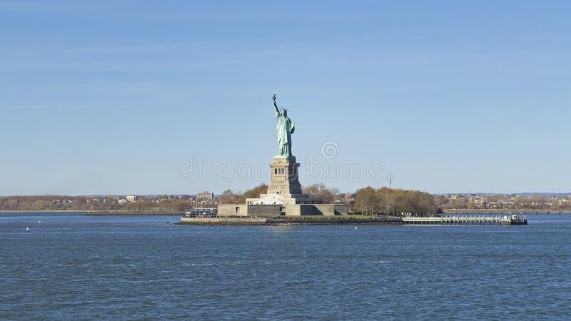 Liberty Statue van de boot aan Staten Island, New York stock afbeelding
